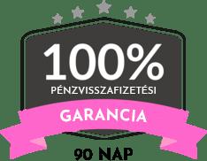 90 napos pénzvisszafizetési garancia fehér