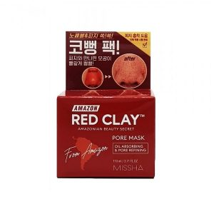 Missha Amazon Red Clay Póruscsökkentő Agyagmaszk 110ml